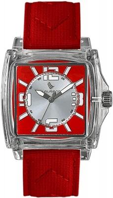 Laurens Unisex Armbanduhr Quarz Analog Transparent / Rot / Silberfarben 025828CC
