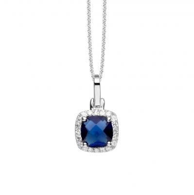 NANA KAY Modern Classics Halskette Royal Silber / Blau mit Zirkonia ST955