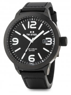 TW Steel Marc Coblen Edition mit Lederband Datum 50 MM Black TWMC55
