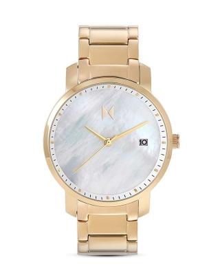 MVMT Signature Gold/Pearl Damenuhr mit Edelstahlband 38 MM Quarz Datum D-MF01-G - B-Ware