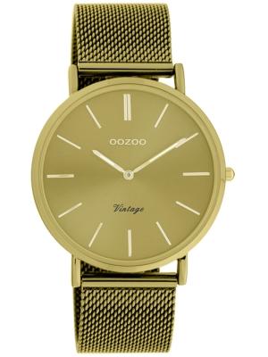 Oozoo Vintage Damenuhr mit Milanaiseband Golden Sun 40 MM Goldfarben C20000