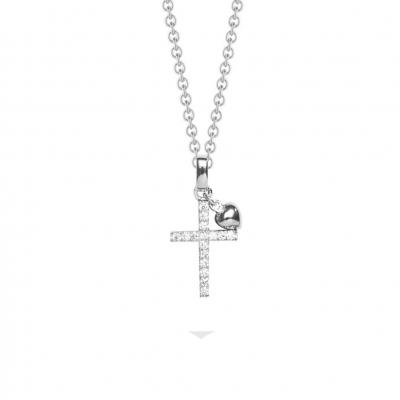 NANA KAY Sweet Talisman Halskette Kreuz Silber mit Zirkonia ST765