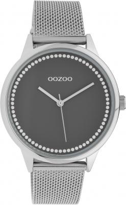 Oozoo Damenuhr mit Edelstahl Milanaise Metallband 40 MM Grau / Silberfarben C10091