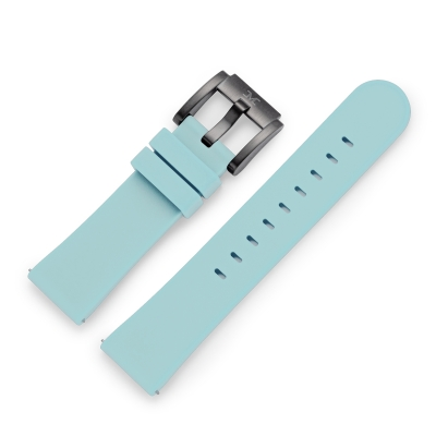 TW Steel Marc Coblen Armband Uhrenband Uhrenarmband Silikon 22 MM Hellblau SB_HB_B