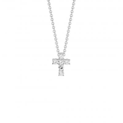 NANA KAY Very Petite Halskette Kreuz Silber mit Zirkonia ST447