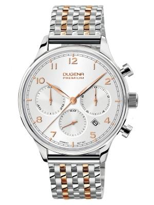 Dugena Premium Herrenuhr Sigma Chrono Saphirglas 7090203