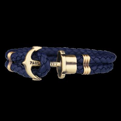 Paul Hewitt Ankerarmband Phrep Leder Blau S