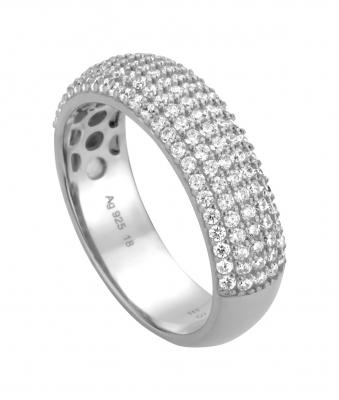 Esprit Damen Ring Frame 925 Sterling Silber mit Zirkonia