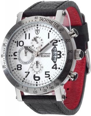 DETOMASO Rimini Herren Chronograph mit Lederband DT1002-B B-Ware
