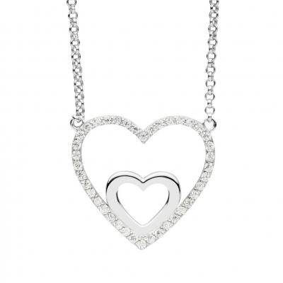 NANA KAY Double Happiness Halskette Silber mit Zirkonia ST1356