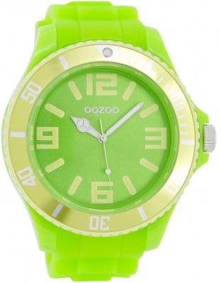 Oozoo Herrenuhr mit Silikonarmband BiColor Zweifarbig 48 MM Neon Grün / Gelb C5834