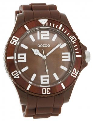 Oozoo Herrenuhr mit Silikonarmband BiColor Zweifarbig 48 MM Braun / Weiß C4276
