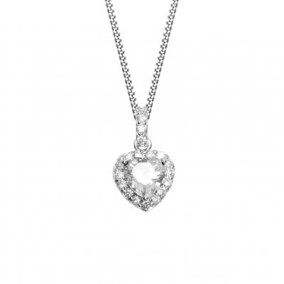 NANA KAY Modern Classics Halskette Herz Silber mit Zirkonia ST719