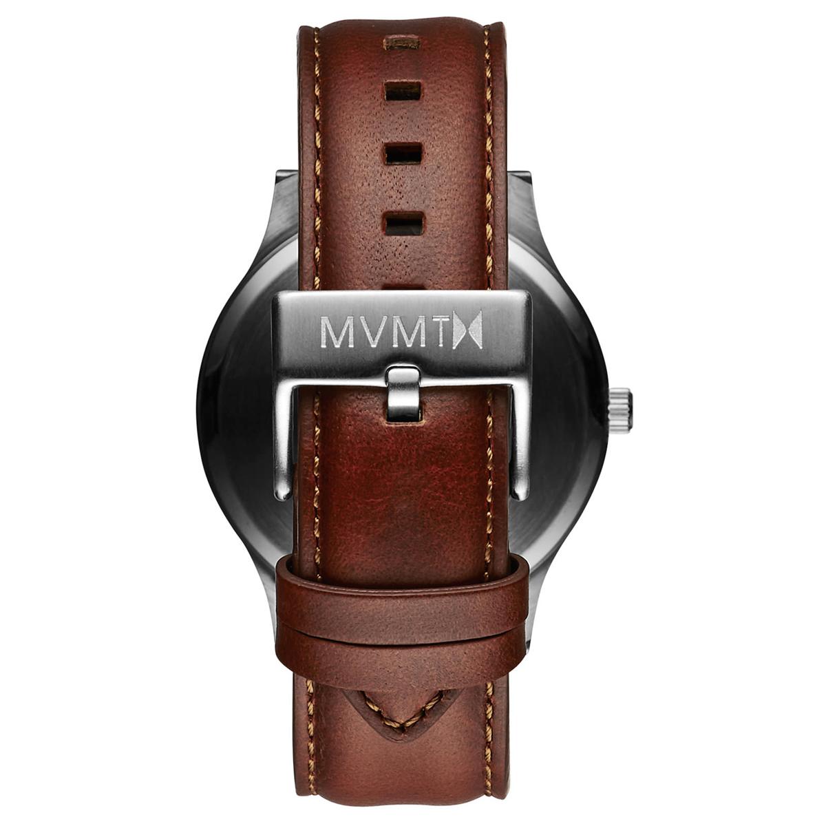 MVMT 40 Series Silver Natural Tan Herrenuhr mit Lederband D MT01 SNA