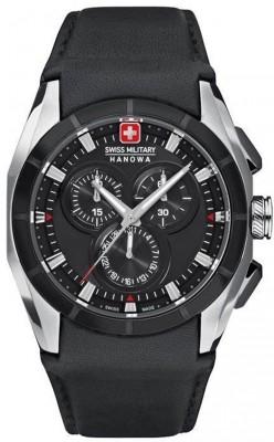 Swiss Military Hanowa Tell Herrenuhr mit Lederband Chronograph 06-4191.33.007 - B-Ware